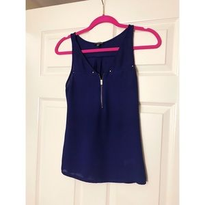 🆕 Express Hudson Blue Tank Extra Small